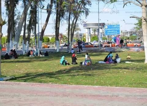 """حديقة الخالدين بالإسماعيلية تستعد لاستقبال المحتفلين بـ""""شم النسيم"""""""