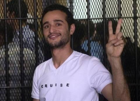 """تأجيل إعادة محاكمة أحمد دومة في """"أحداث الوزراء"""" لـ29 مايو"""