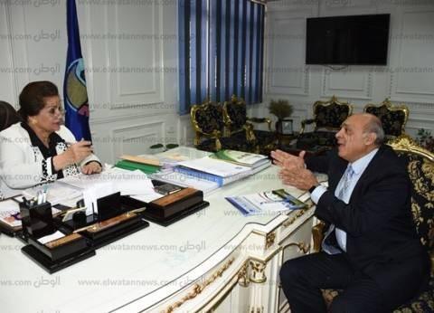 محافظ البحيرة تستقبل رئيس المنتدى المصري للتنمية المستدامة
