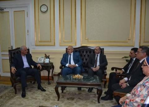 محافظ الجيزة يستقبل رئيس جامعة القاهرة