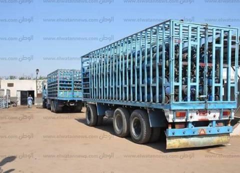 ضبط 60 أسطوانة غاز مدعمة بمصنع طوب في البحيرة