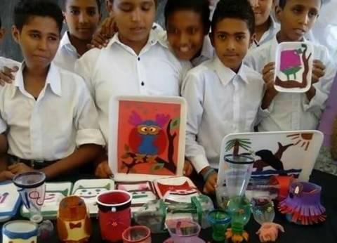 ورشة فنية لإعادة تدوير المخلفات لأطفال مدينة القصير