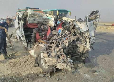 مصرع عامل وإصابة آخر في حادث تصادم سيارتين بالدقهلية