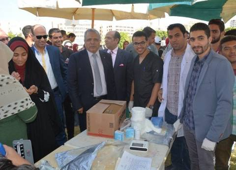 بالصور  انطلاق حملة طلابية للتبرع بالدم لصالح مستشفى جامعة الفيوم