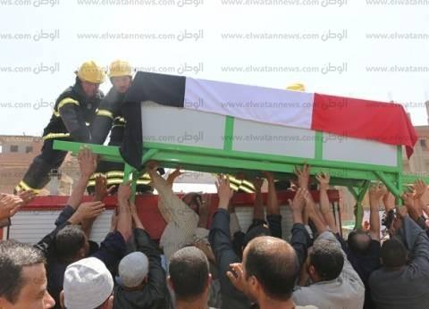 بالصور| جنازة عسكرية لشهيد الشرطة عصام يونس عبد الفتاح بالمنوفية