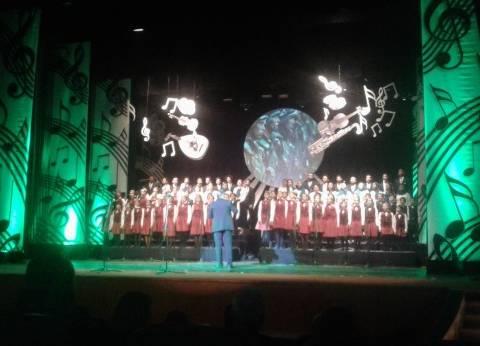 """كورال اﻷوبرا يقدم أغنية """"بسم الله.. الله أكبر"""" باحتفالية مسرح طنطا"""