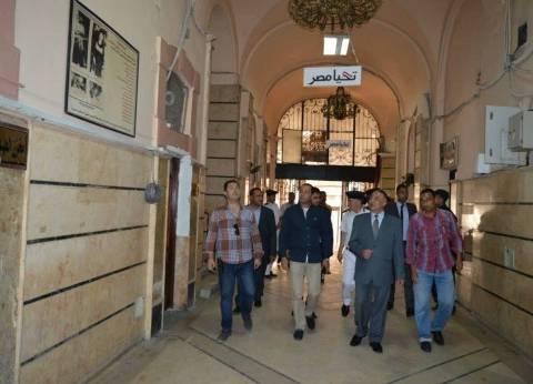 مدير أمن الإسكندرية في زيارة لقسم شرطة اللبان