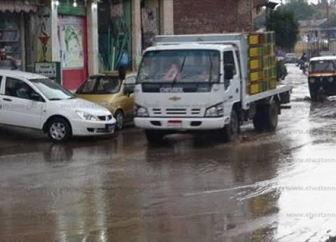 استمرار الأمطار الغزيرة على الغربية.. والدفع بسيارات إضافية لكسح المياه