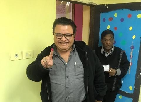 بالصور| خالد جلال يدلي بصوته في الاستفتاء على التعديلات الدستورية
