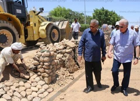 بالصور| محافظ جنوب سيناء يتابع المشروعات الجاري تنفيذها بشرم الشيخ