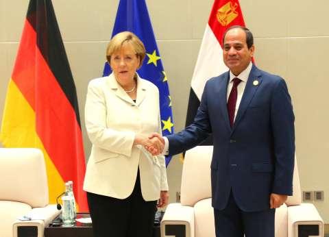 """""""السيسي"""" يشيد بجهود ألمانيا لإنعاش الاقتصاد العالمي والتحفيز المالي"""