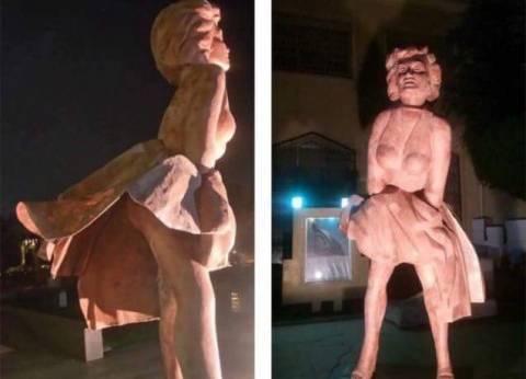 رفع تمثال مارلين مونرو المثير للجدل في دار الأوبرا المصرية