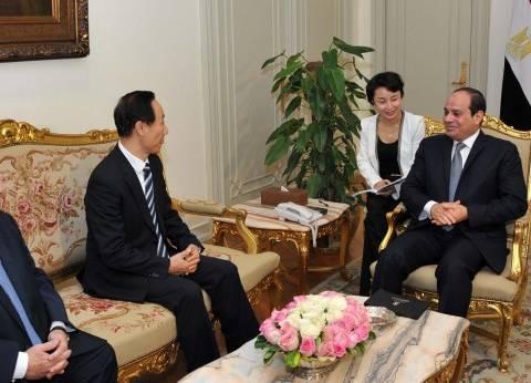 عاجل| السيسي يستقبل نائب رئيس اللجنة الوطنية للمؤتمر الاستشاري السياسي للشعب الصيني