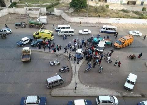 """النيابة تحقق في مصرع 8 أشخاص وإصابة 7 آخرين في حادث تصادم بـ""""أطفيح"""""""