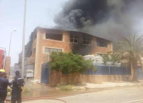 """""""أمن الإسكندرية"""": مصنع البويات المحترق غير مستوفي الاشتراطات الوقائية"""