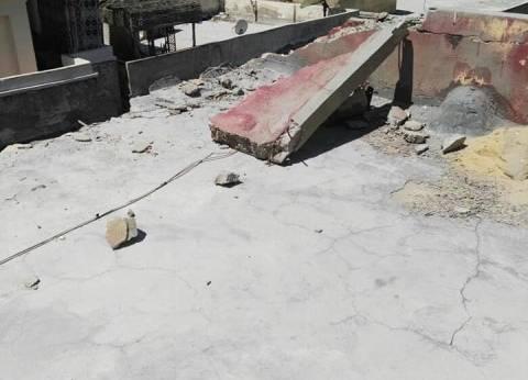 """إصابة شخص إثر انهيار جزئي لعقار بـ""""غيط العنب"""" غرب الإسكندرية"""
