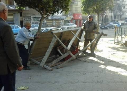 بالصور| حملة لإزالة إشغالات طريق الترعة الشرقاوية في دمياط