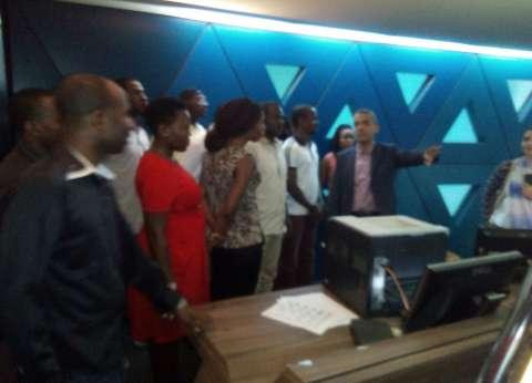 """وفد """"الإذاعيين الأفارقة"""" يتفقد استديوهات """"النيل للأخبار"""" بماسبيرو"""