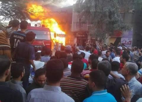 نشوب حريق خلف المدينة الجامعية للطالبات بالمنصورة