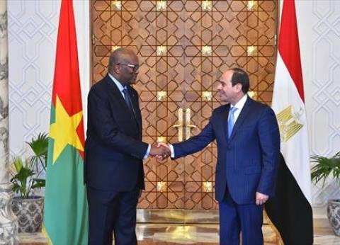 السيسي: مستعدون لزيادة الاستثمارات المصرية في بوركينا فاسو