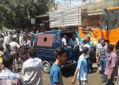 """""""أمن الجيزة"""" يشن حملات لإزالة الاشغالات في المحافظة"""