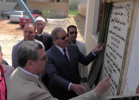 """محافظ الفيوم يضع حجر أساس """"دار الرماد"""" ويفتتح """"الدراسات الإسلامية"""""""