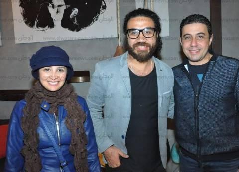 حنان ترك ومي الشريف في افتتاح معرض الإعلامي كارم محمود