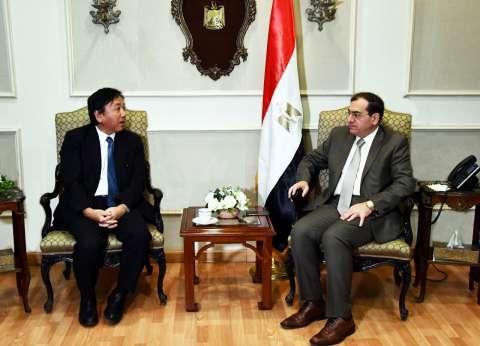 وزير البترول يبحث مع سفير اليابان زيادة طاقات معامل التكرير