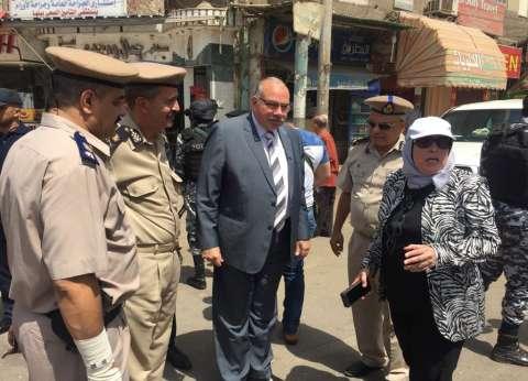 مدير أمن القليوبية يقود حملة لتطهير منطقة كباري الرياح التوفيقي ببنها