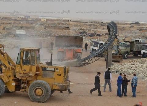 إزالة التعديات على أراضي أملاك دولة بمساحة 750 فدان بالعاشر