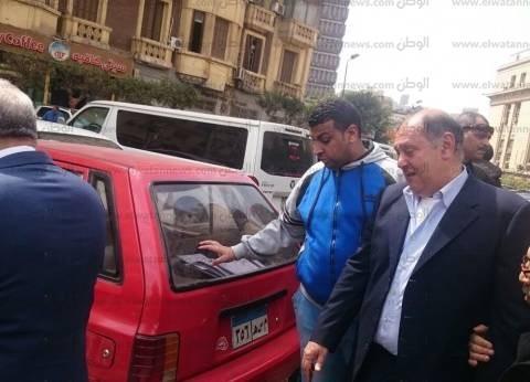 وصول جرانة والمغربي لجلسة إعادة محاكمتهما بتهمة الإضرار بالمال العام