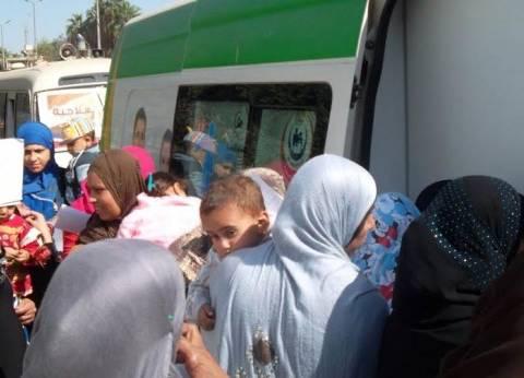 """""""صحة الفيوم"""" تنظم قافلة طبية مجانية لفحص أهالي """"الناصرية"""""""