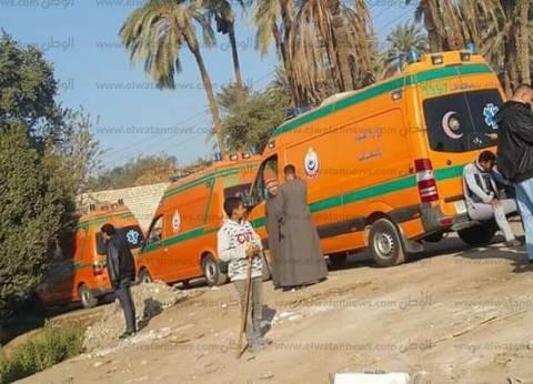 إصابة 6 من رجال الأمن في حادث انقلاب سيارة شرطة بالمنيا