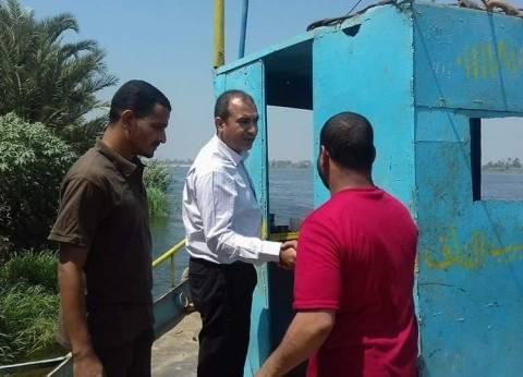 """رئيس """"أبوقرقاص"""" يتفقد استراحة الآثار ومعديات بني حسن في المنيا"""