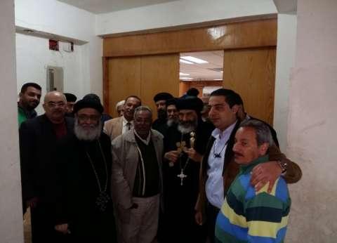 """الأنبا تادرس يصلي بـ""""العذراء"""" في بورسعيد ويتفقد خدمات الكنيسة"""