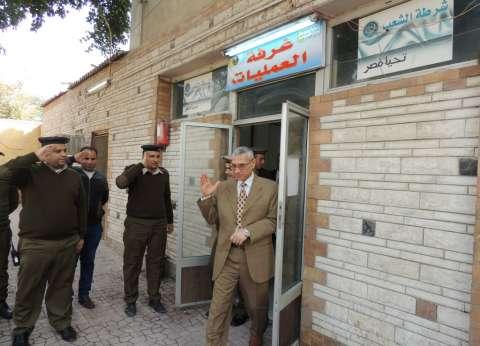 مدير أمن المنيا يتفقد تأمين منشآت شرطية وكنائس