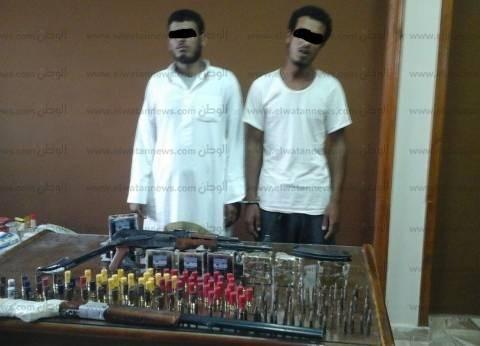 ضبط شخصين بحوزتهما 2 بندقية آلية وخرطوش و297 طلقة في مطروح