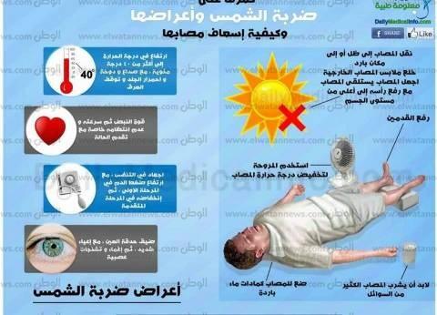 الإسعافات الأولية للمصابين بضربة الشمس والإجهاد الحراري