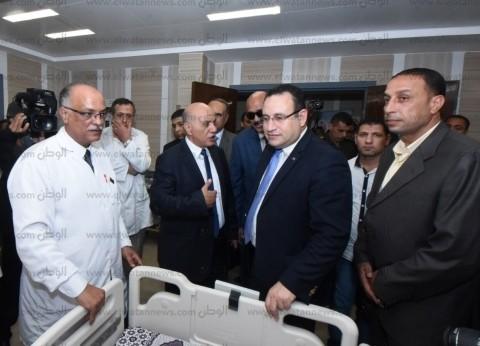 بالصور| محافظ الإسكندرية يفتتح أعمال تطوير مستشفى العامرية العام
