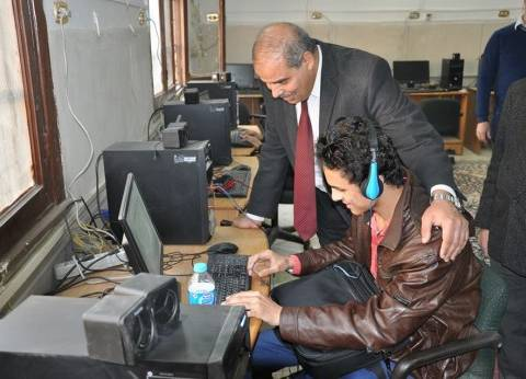المحرصاوي يتفقد سير الامتحانات ويلتقي أعضاء هيئة التدريس