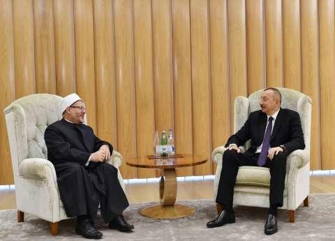 المفتي يلتقي رئيس أذربيجان لبحث التعاون في مجال مكافحة التطرف والإرهاب