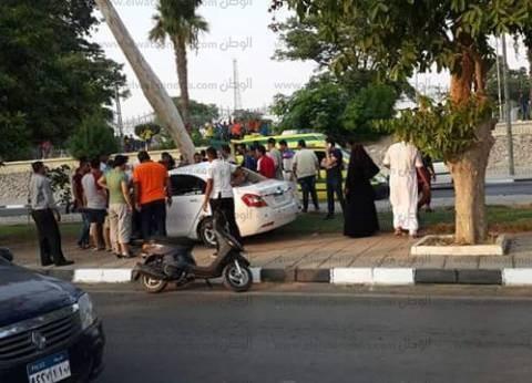 إصابة 9 مواطنين في حادث تصادم بين سيارة و4 دراجات بخارية بالفيوم