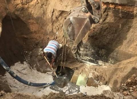عطل في خط مياه الخانكة الرئيسي يتسبب في قطع الخدمة عن المواطنين