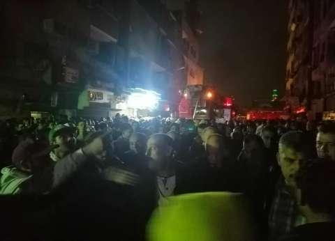 """نقل 12 أسرة متضررة من حريق """"عقار الزاوية"""" إلى مساكن الإيواء مؤقتا"""