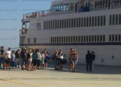 """ميناء الغردقة يستقبل السفينة السياحية """"clio"""""""