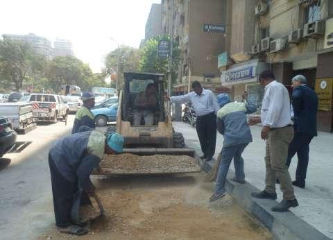 تطوير وتجميل شارع أحمد عرابي في العجوزة