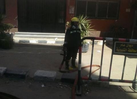 """السيطرة على حريق محدود بديوان محافظة القليوبية.. والسبب """"عقب سيجارة"""""""