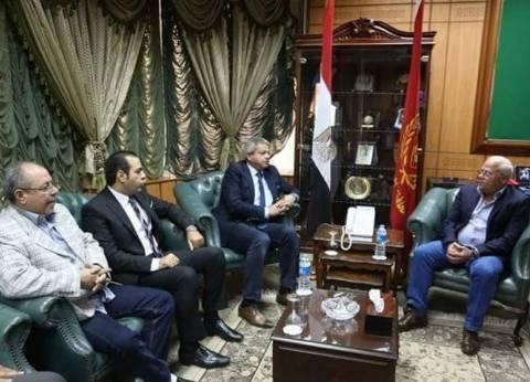 وزير الشباب يلتقي محافظ بورسعيد قبل زيارة المجمع الرياضي