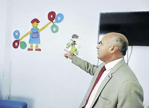 صور الأطفال مرضى الفشل الكلوى تزين حوائط «حميات بنى سويف»