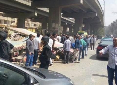 14 مصابا في حادث تصادم بين سيارتين بطريق أكتوبر-الفيوم